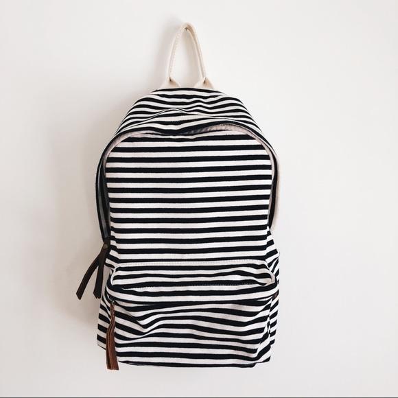578f97b355 Brandy Melville Handbags - BRANDY MELVILLE John Galt Striped Backpack EUC